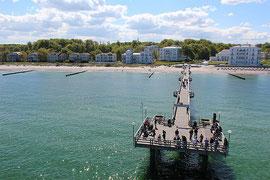 Die Seebrücke von Heiligendamm an der Ostsee - Luftbild copterdrone