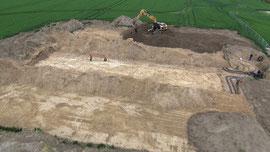Luftbild Mecklenburg-Vorpommern Flächenkollektor für Wärmepumpe