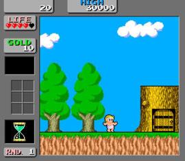 como se puede observar en esta captura de la recreativa, la versión Master System es muy fiel a la máquina.