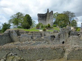 Domfront, Orne, Normandie, cité médiévale au riche passé historique a conservé son caractère médiéval.