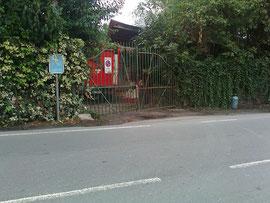 Il cancello incriminato
