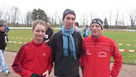deutscher Rekord: vl: Knut Seelbach, Stephan Groß, Jörg Heiner