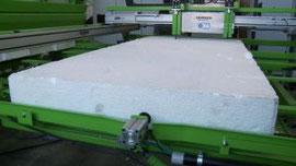 Alimentación del polispan paneles de hormigón