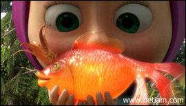 Маша поймала...Золотую рыбку