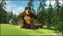 Маша шумела, мешая Медведю ловить рыбу