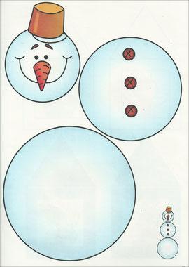 Аппликация снеговик.