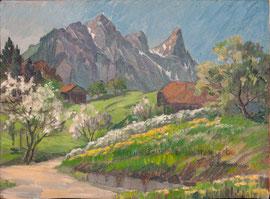 1724;RB 685/ Stockhorn im Frühling