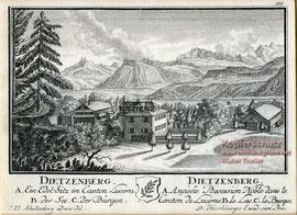 219; David Herrliberger, Dietschiberg bei Luzern 1754