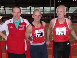Starke Senioren von der LG Sieg: Andreas Lautner, Heinz Zantopp und Friedhelm Adorf (von links)