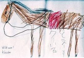 T君が描いてくれた「馬」:Wild-ace