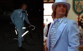 Dressing up like dumb and dumber with BikeWrappers on our bike.