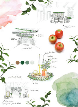 Scénographie Mariage champêtre décoratrice wedding designer