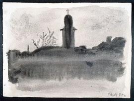 ディタさんが、テレジンで描いた教会の絵