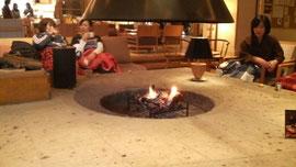 ゆと森倶楽部の暖炉
