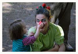 Huguette Lucie, clown, bébé, crèche, enfant,