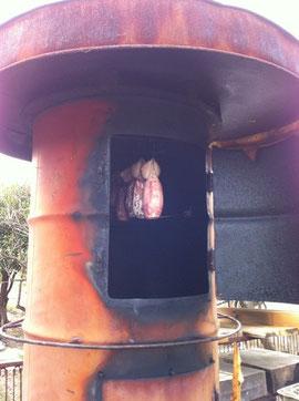 燻製をつくる炉
