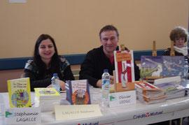 Stéphanie Lagalle et Olivier Leduc au salon du livre des Pieux en 2010