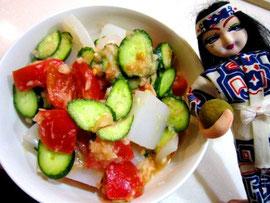 優しい味わい♡トマト味噌サラダ