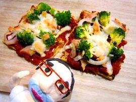 安眠レシピ☆豆腐ピザ