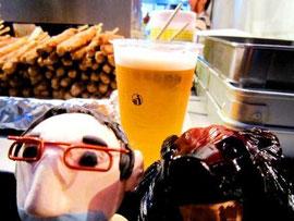 待望の生ビールです。