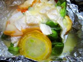 アウトドアレシピ11☆夏野菜でチーズフォンデュ