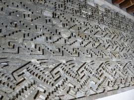 frises géométriques zapotèques de Mitla