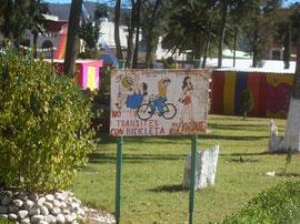 No transites con bicicleta
