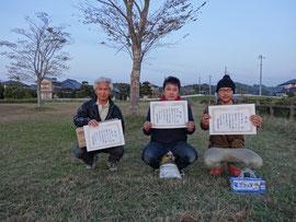 MB級入賞者 2位江藤清 優勝石浦賢 3位松田陽晶