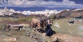 GIOVANNI SEGANTINI PRIMAVERA SULLE ALPI 1897