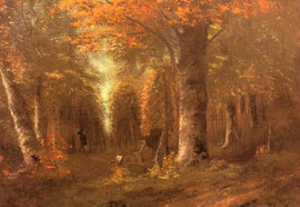GUSTAVE COURBET - la foresta in autunno