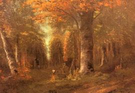 GUSTAVE COURBET - la foresta in autunno