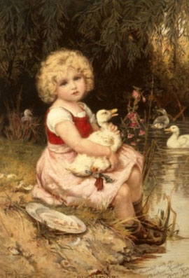 FREDERICK MORGAN - Nursing a poorly duckling