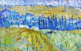 VAN GOGH - Pioggia ad Auvers (1890)
