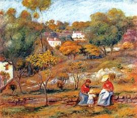 PIERRE AUGUSTE RENOIR - Landscape at Cagnes
