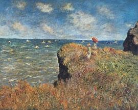Monet - Passeggiata sulla scogliera