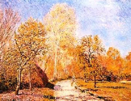 ALFRED SISLEY - Autumn Landscape