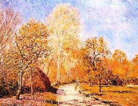 ALFRED SISLEY - Autumn Landscape
