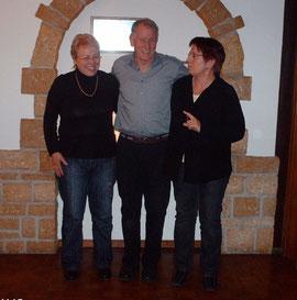 2009 Der neue Vorstand:      Berti, Richi und Ruth