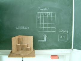 Mathesams, Themenraum, Mit Würfeln bauen