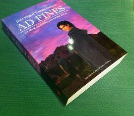 Ejemplar de la novela Ad Fines