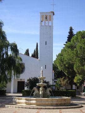 """Iglesia Parroquial de """"San Isidro Labrador"""" en Mesas del Guadalora - (Haz """"clic"""" en la imagen para ampliar)."""