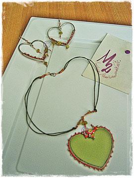 Green  Heart parure - 25,00 Euro