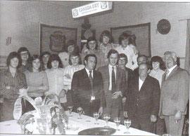 Die Mitglieder des D.T. Hostert im Jahre 1973