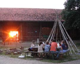 Laberfeuerromantik auf dem Thalerseehof