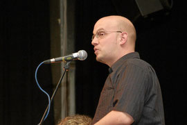 Alex Dreppec beim ersten Science Slam 2006