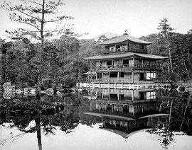 Kinkaku-ji in Kyōto - Adolfo Farsari, ca. 1885