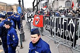 Demonstration mod fascistopmarch i Budapest