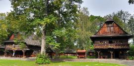Walachische Freilichtmuseum in Roznov pod Rad.