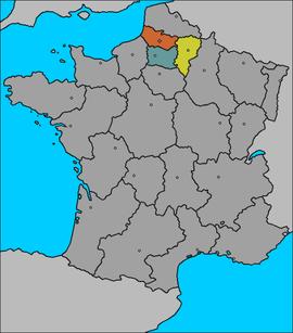 Amiens en naranja