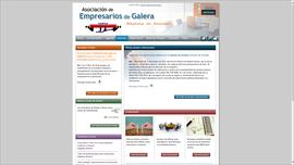 web asociación empresarios de galera